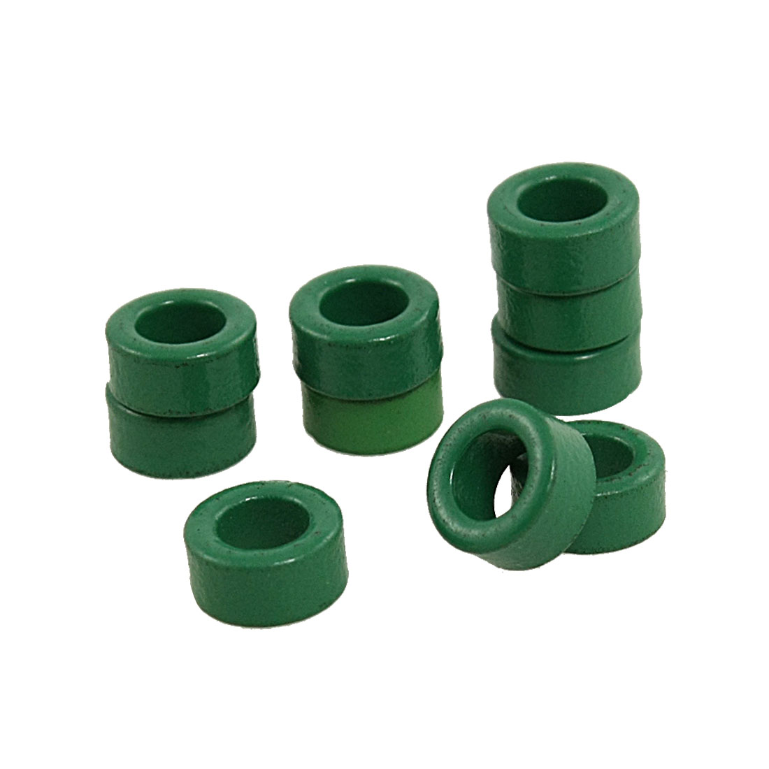 UXCELL 10 Pcs Inductor Coils Green Toroid Ferrite Cores 10Mm X 6Mm X 5Mm(China (Mainland))