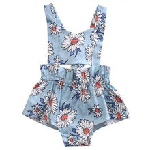 Newborn Infant Baby Girl Floral Jumpsuit Bodysuit Daisy Children Clothing Summer Girls Costume Outfits Sunsuit Clothes