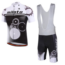 Hot new wheel team cycling wear Summer Quick Dry ropa Cycling Jersey Bike Riding Clothing Mountain shorts set with gel pads 2017(China)