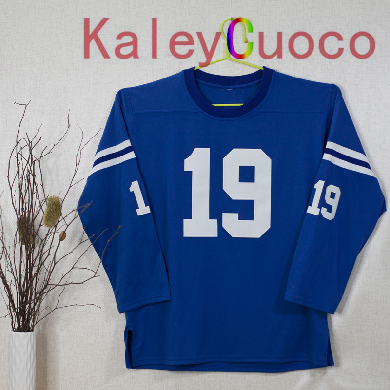 Retro star #19 Johnny Unitas Embroidered Throwback Football Jersey M&N 48 50 52 54 56 Jerseys(China (Mainland))