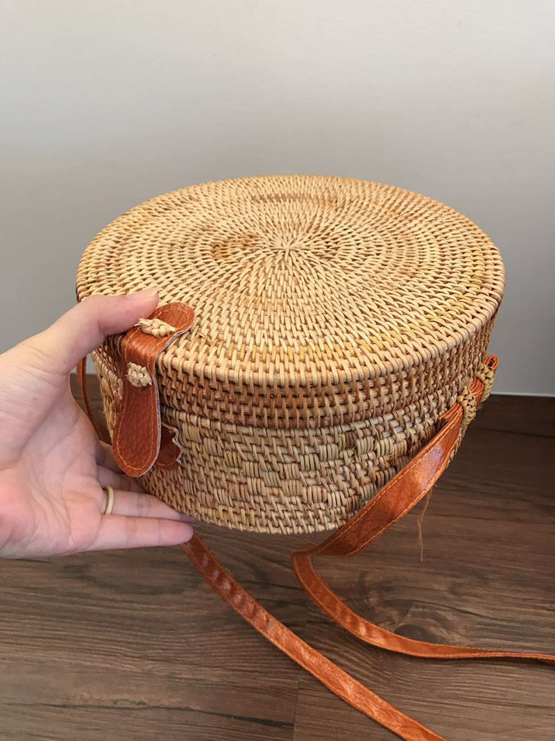 Women Straw Bags Bohemian Bali Rattan Female Beach Shoulder Bag Vintage Small Circle Summer Handmade Crossboday Bag SS3003 (5)