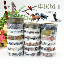 (5 pieces/lot) Chinese Style Wahi Tape Color Paper Sticker DIY Scrapbooking Masking Tape