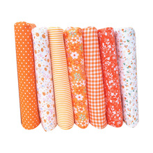 Hoomall 7PCs Cotton Fabric For Patchwork Soft Felt Cheap Fabric For Sewing Needlework Curtains Dolls DIY Accessories 25x25cm