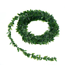 1/Pc New Arrival 7.5m Artificial Green Flower Nylon iron wire Leaves Rattan DIY wreath Accessory For Wedding Decoration Gifts(China)