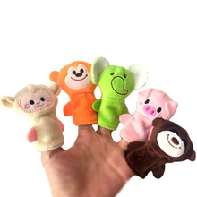 10 Pcs Cartoon Animal Finger Puppet Plush Toys Child Baby Favor Dolls Boys Girls Finger Puppets Style Random(China)