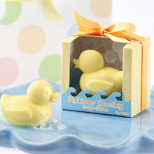 New Little Yellow Duck Soap Set With Box Handmade Whitening Bath Hand Soap Christmas Halloween Party Child Gift Soap