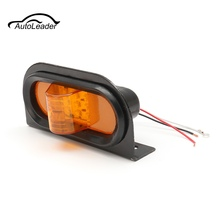 1Pc 12V 9 LED Car Side Marker Sidelight Lamp Indicators Amber Light For Car Truck Lorry Caravan Trailer Light Waterproof(China)