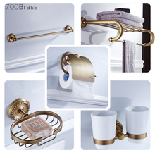Solid Brass Bathroom Accessories, Luxuary Style, Towel Rack, Soap Basket, Toilet Brush Holder, Bar, Ring, Robe Hook, F6700