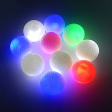1Pcs New Arrival Outdoor LED Golf Night Glow Golf Balls LED Drop Shipping Color Random(China)
