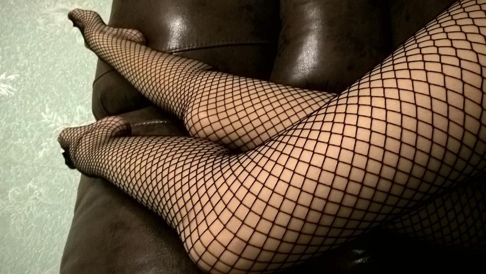 Eva In Black Fishnet Stockings Fuq 1