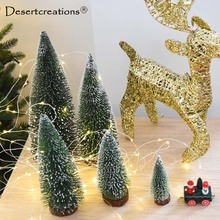 Christmas Decoration Supplies Artificial Christmas Trees Small Simulation Plant Flower Accessories Mini Christmas Tree 10-30cm