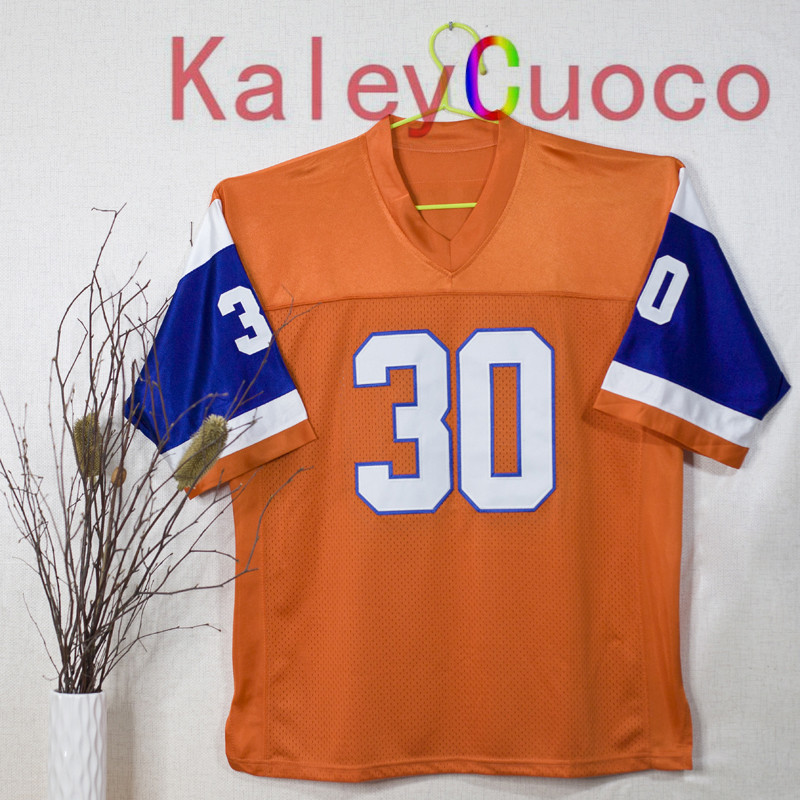 Retro star #30 Terrell Davis Embroidered Throwback Football Jersey M&N 48 50 52 54 56 Jerseys(China (Mainland))