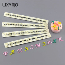 LIXYMO Russian letters alphabets fondant molds cutters embosser Sugar craft moulds Cake dessert Decoration DIY bakeware tools(China)