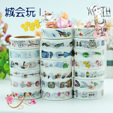 (5 pieces/lot) City Style Wahi Tape Color Paper Sticker DIY Scrapbooking Masking Tape