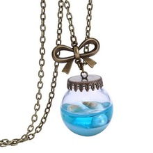 1 Piece!! Beautiful Glass Bottle Shells Star Pendant Necklace Drop Shipping Charming Jewelry(China)
