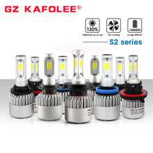 S2 LED Light h4 h7 h1 h3 h8 h9 h11 9005 9006 9012 hb3 hb4 S2 Auto Car Headlight 72W 8000LM automobiles lamp car led bulb(China)