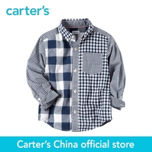 Carter's 1pcs baby children kids Checkered Button-Front Shirt 243G979,sold by Carter's China official store