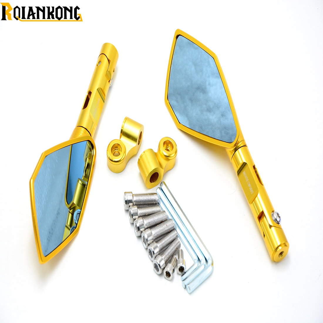 Italy Brand logo mark Motorcycle Rearview side Mirrors CNC Aluminum for BMW HP2 Enduro HP2 Megamoto HP2 C600 C650 Sport<br>