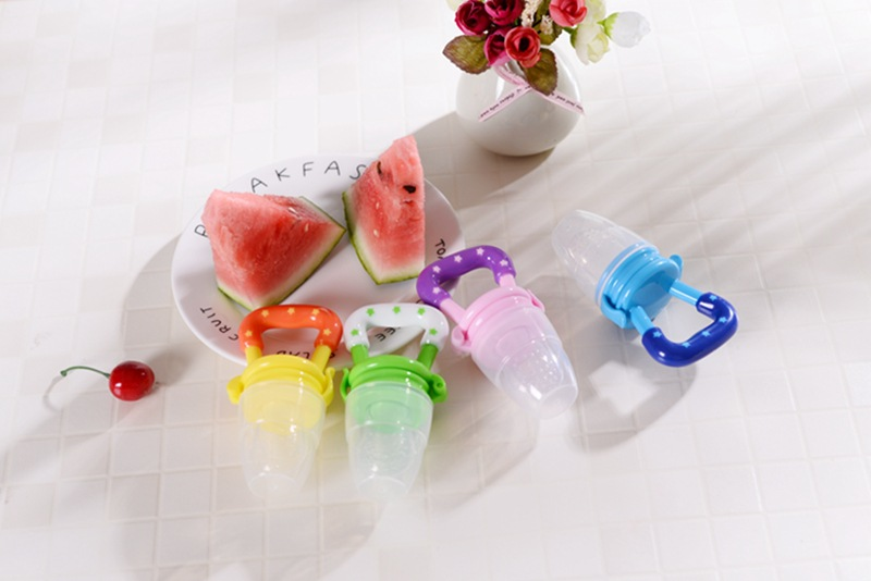 Colorful Baby Fruits And Vegetables Bite Bags Infant Teether Pacifier Reassure Chlidren Silicone Buckle Drinkers  (14)