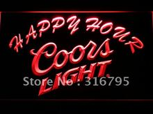603 Coors Light Happy Hour Beer Bar LED Neon Sign with On/Off Switch 7 Colors 4 Sizes to choose