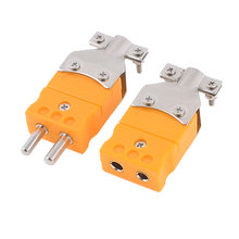 Uxcell 2 Pcs Screw Fixed K Type Male Female Sockets Thermocouple Plugs Orange . | 0 | 200c(China)
