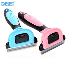 Pet Hair Removal Comb Hair For Dogs Cats Brush Detachable Hair Shedding Trimming Dog Brush Pet Grooming Tool(China)