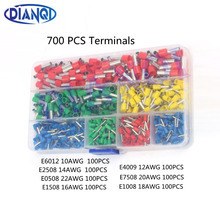 700pcs/set 22-10AWG Wire Copper Crimp Connector Insulated Insulated Cord End Cable Wire Terminal Kit DIY brass DIANQI(China)