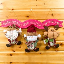 Christmas Tree Hanging Doll Cute Santa Claus Snow Man Dolls Decorations Gadgets Ornaments Xmas Best Gift 2017 New - Suke Pets Store store