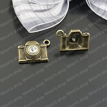 (25520)Alloy Findings,charm pendants,Antiqued style bronze tone Camera 20PCS(China)