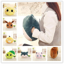 Hot Creative Hand warmer soft pillow Snorlax Psyduck Jigglypuff Eevee Plush Toy for children office Plush Anime Stuffed Doll(China)