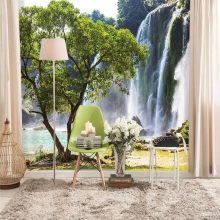 Waterfall TV sofa background wall professional production mural wholesale wallpaper mural poster photo wall(China)