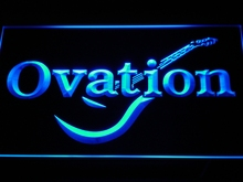 k170 Ovation Guitars Acoustic Music  LED Neon Sign with On/Off Switch 7 Colors 4 Sizes to choose