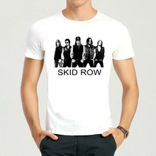 Skid Row T-shirt Short Sleeve White Color Skid Row Logo t shirt Top Tees For Punk Rock Band(China)