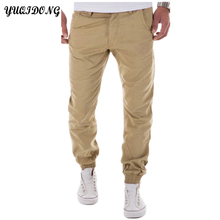 YUQIDONG Mens Casual Pants Trousers 2017 New joggers Autumn Free Style Men'S Pure Color Leisure Foot Trousers Multicolor M-3XL