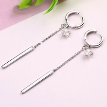 New Star Crystal Dangle Earrings Long Chain Earrings For Women Girls(China)