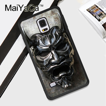 Japan Samurai Mask Printed TPU Coque For Samsung Galaxy S3 S4 S5 S6 S7 edge S8 Plus Note 3 4 5 Case Cover