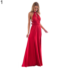 2017 Summer Sexy Women Dress Convertible Multiway Wrap Bandage Maxi Robe Bridesmaid Long Dress for Party Festival Floor-Length(China)