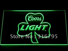 019 Coors Light Shamrock Beer Bar Pub LED Neon Sign with On/Off Switch 7 Colors 4 Sizes to choose