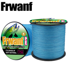 Frwanf Multifilament Fishing Line 500M 547 Yards Braided PE Line For Carp Fishing Wire 10 20 30 40 50 60 70 80LB Black(China)