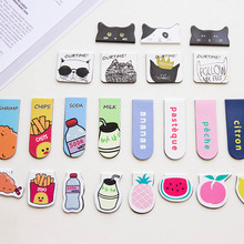 1Pcs Cartoon Fruit Chips Ourtime Magnet Bookmark Paper Clip School Office Supply Escolar Papelaria Gift Stationery(China)