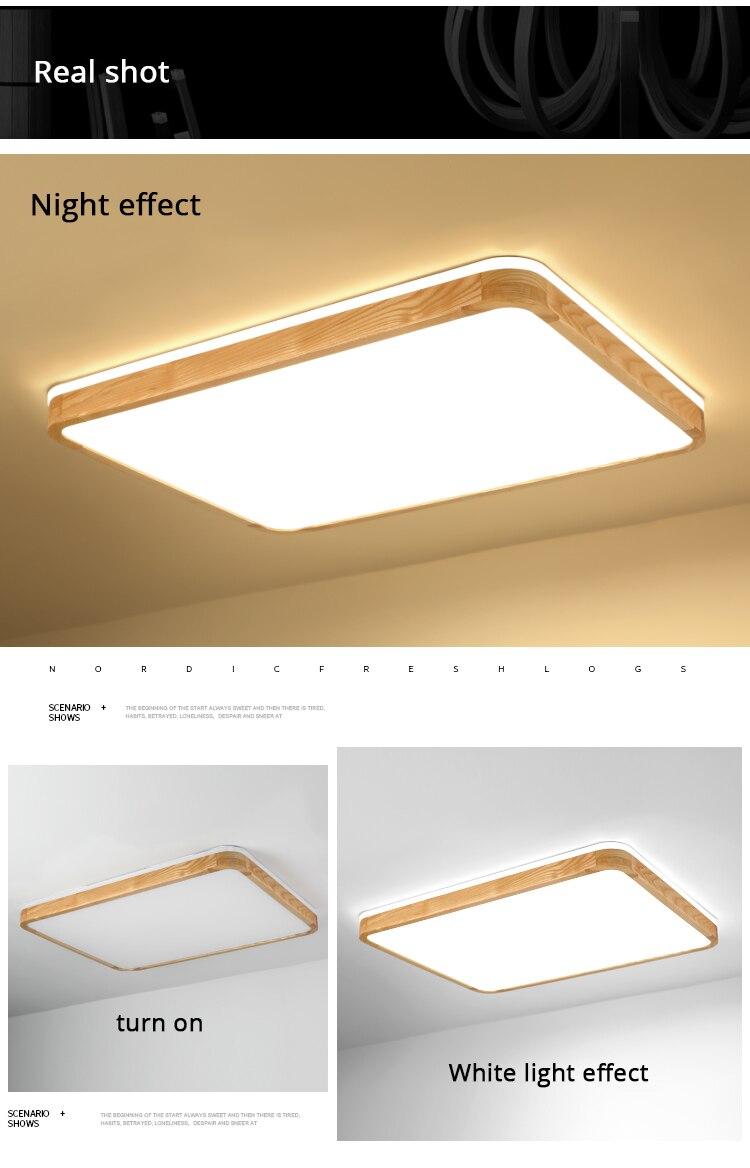 q (10)Ceiling Lights Wood