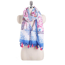 LASPERAL New Arrival 2017 Multicolor Japanese Style Tassel Women Scarves Stoles Ethnic Style Ladies Sunscreen Thin Shawls&Wraps(China)