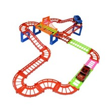 Rail Car Toy Big Multilayer Rail Kids Electric Train Track Toys With Retail Packaging For Kids Gift(China)