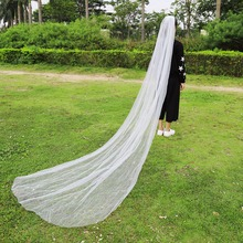 3 Meters 1 Tier Long Veil White Ivory Wedding Bride Party Mantilla With Comb Chapel Length