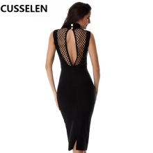 Special Design Popular Bandage Sexy Ummer Dress Dantel Elbise 2017 Women Sleeveless Bodycon Black Sexy Dress Club Wear