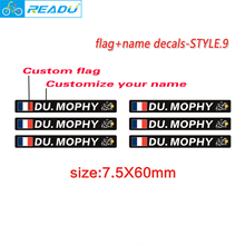Buy Tour de France Flag name road bike frame logo personal name decals custom bicycle rider ID stickers STYLE.9 for $8.62 in AliExpress store