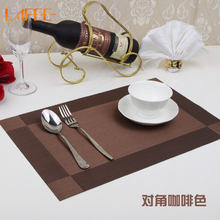 Placemat fashion pvc dining table mat disc pads bowl pad coasters waterproof table cloth pad slip-resistant pad dining table mat(China)