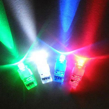 1PCS LED Laser Finger Lights Up Beam Lamps Party Torch Wave Glow Ring new arrival  1601 Color Random
