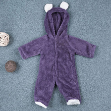 Infant Baby Boys And Girls Winter Warm Coral Fleece Romper Jumpsuit Hooded Clothes for Christmas Gifts(China)