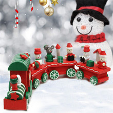 New Arrival Christmas Creativing Wooden Train Santa Claus Festival Ornament Kids Gift Toys For Children Kids(China)